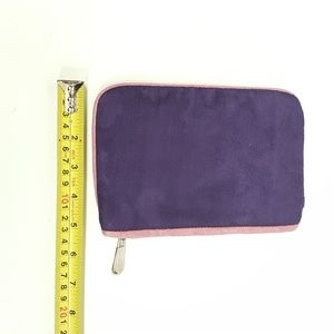 Hilary London Bags - Hilary London Suede clutch makeup purse  PURPLE